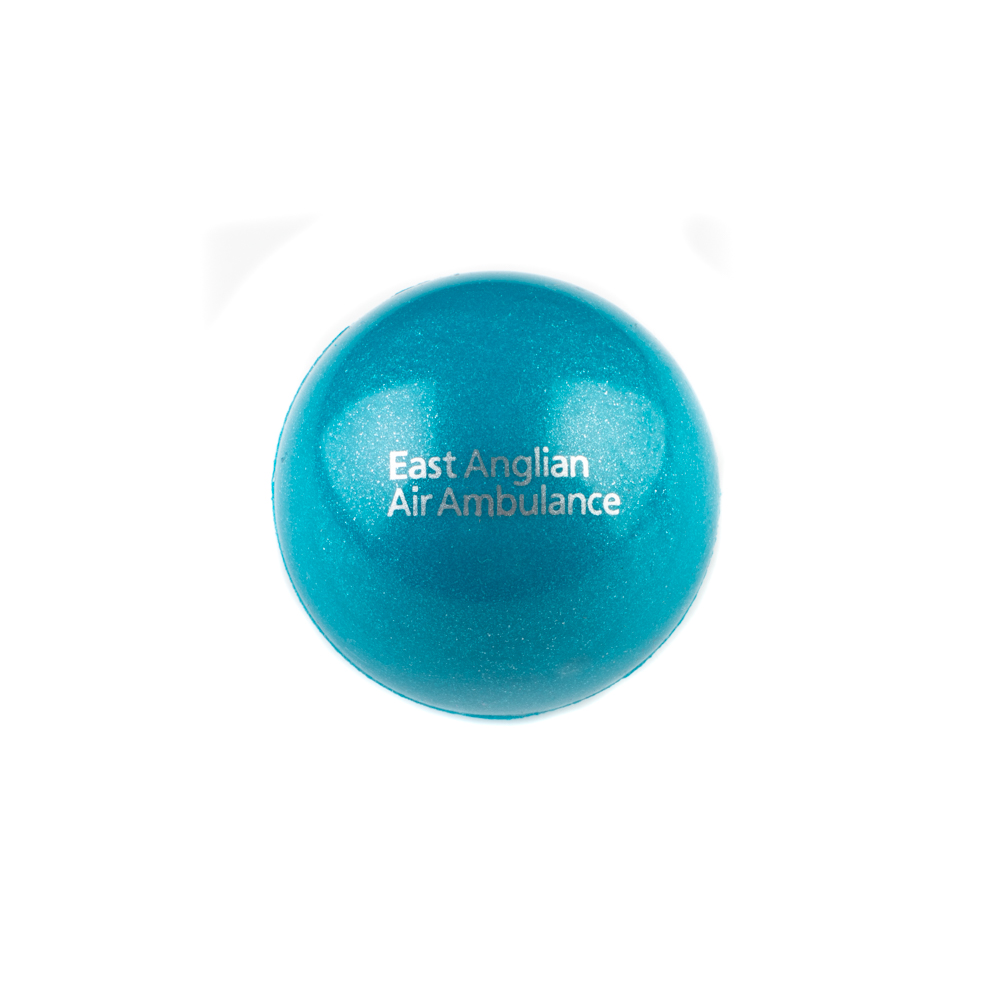 Blue bouncy ball