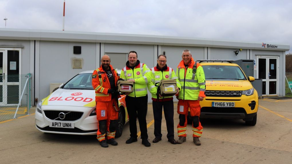 East Anglian Air Ambulance and Norfolk Blood Bikes work together to save Diss motorcyclist