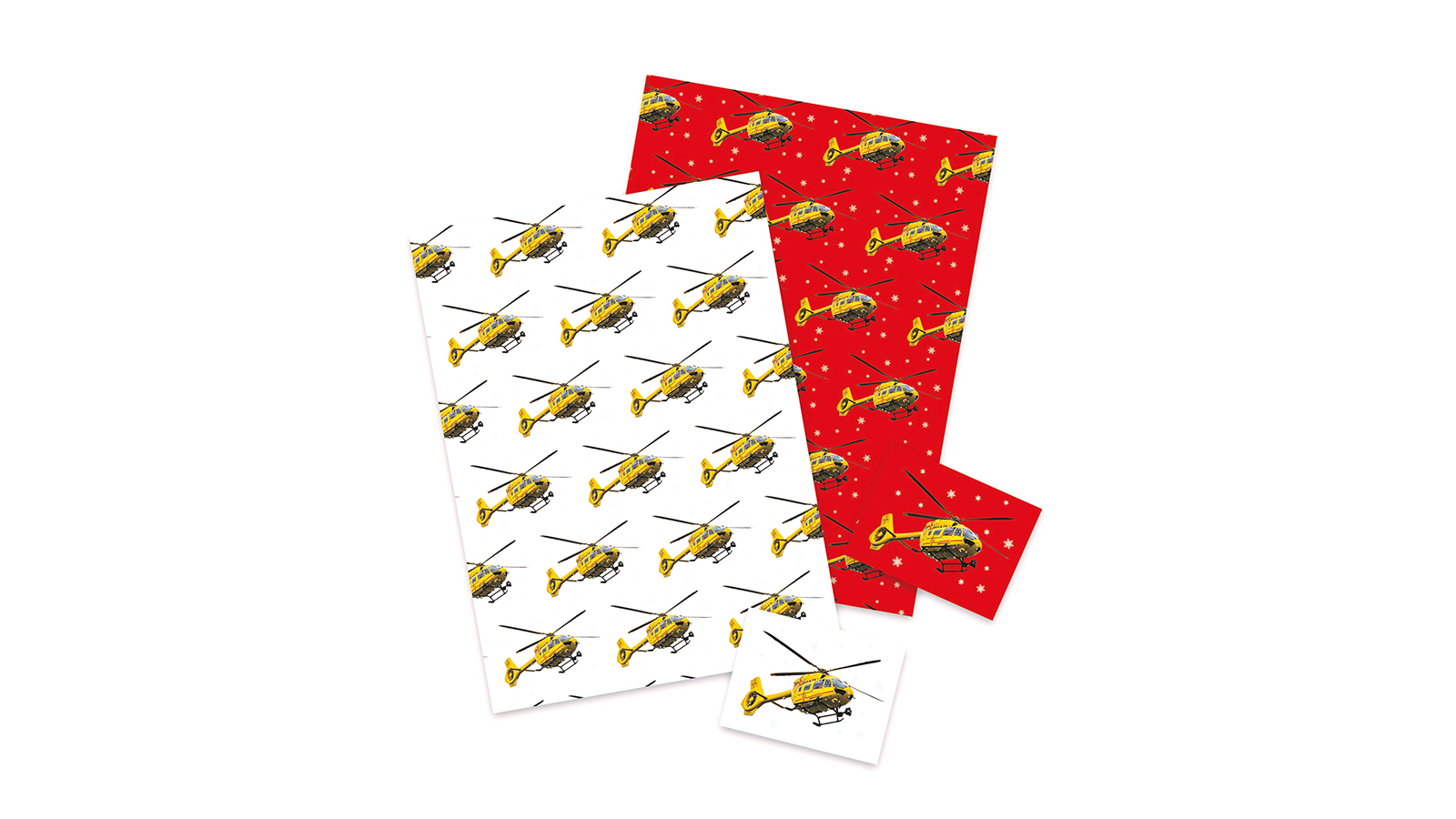 Helicopter Christmas wrapping paper